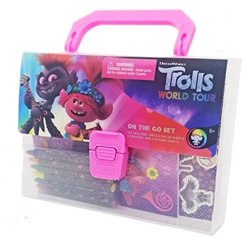 DreamWorks Trolls 2 Stationery Crayon On The Go Set in Box