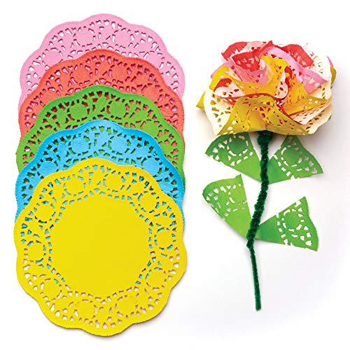 Baker Ross Blondas de papel de colores en 5 colores diferentes 16,5 cm para actividades artísticas y manualidades infantiles, collages y modelos (pack de 120).