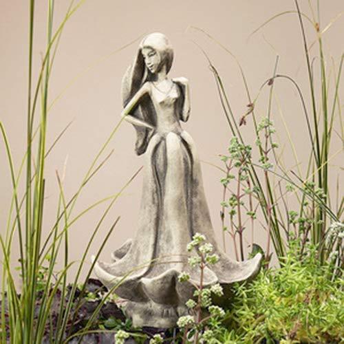 Blütentänzerin 'Akelei', Betonguss, für Metallstäbe