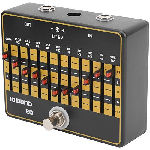 Gitarreneffekte, 10-Band-Gitarren-Booster-Pedal mit 31,25 Hz bis 16 kHz, einfach zu bedienen