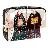 Apanese Young geishas en bolsa de aseo tradicional – Organizador grande de maquillaje cosmético para hombres y mujeres