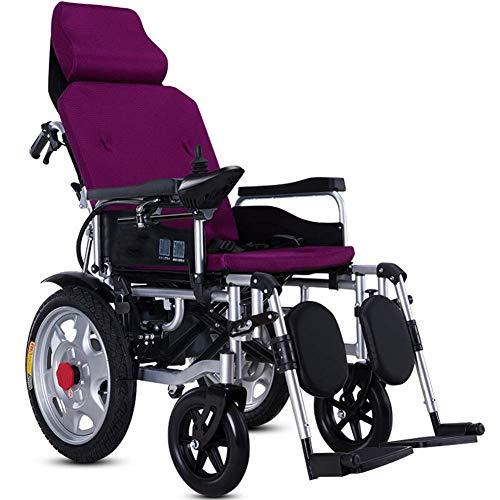 Cajolg Zvvvst elektrische rolstoel opvouwbaar licht, dubbele motor 360 ° joystick lithium batterij elektrische mobiliteitshulp elektrische rolstoel lichte scooter, draagbare bejaarden hulp auto