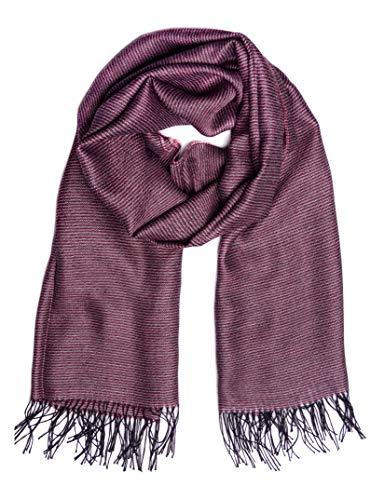 Mitos Natural Elegance Grote sjaal 70 * 200 Pashminatdoek donkerrood grijs