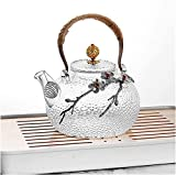 Teeservice Glas-Teekanne 930 ml Boutique dicke, hitzebeständige Glas-Teekanne Zuhause Blume Teekanne Büro Wasserkocher Tasse
