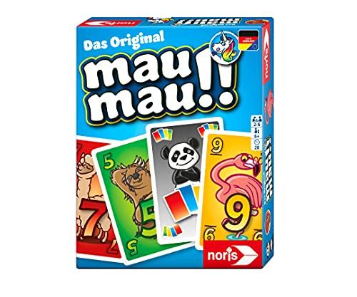noris 606261972 Mau Mau Tiere, das weltbekannte Kartenspiel mit einem originellen Blatt, für 2 bis 6 Spieler ab 6 Jahren