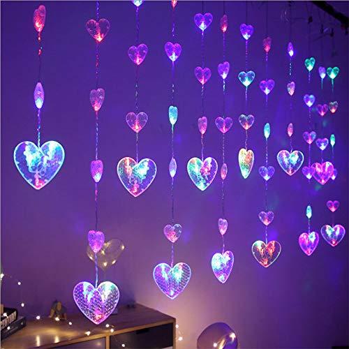 LED Licht Weihnachten Zimmer Schlafzimmer Deko verrottene Lampe String Vorhang Liebe Lichterkette