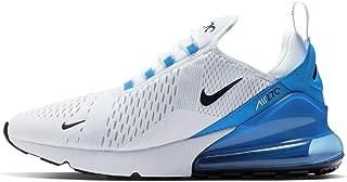 Nike Air Max 270 Mens Sneakers AH8050-110, White/Black-Photo Blue-Pure Platinum, Size US 11