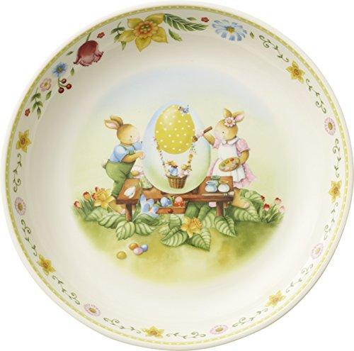 Villeroy & Boch Spring Fantasy Osterkörbchen Groß, Bunny Family, Porzellan, 29 x 6 cm, weiß