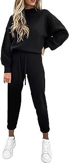 Women's 2 Piece Outfits Long Sleeve Pullover Sweatshirt Jogger Pants Sweatsuit