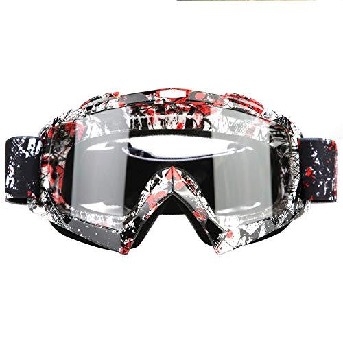 KIMISS Occhiali da motocross, occhiali da corsa P932 Clear-Lens Occhiali da corsa Protezione antipolvere per gli occhi per Motocross Moto Dirt Bike Ski(P932 Clear-Lens): Amazon.it: Auto e Moto