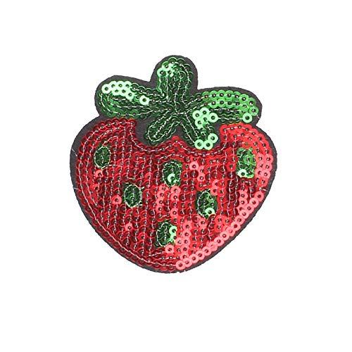 Parche Velcro 3 Uds Parches De Frutas Para Aperitivos Pegatinas De Flores Para Planchar La Ropa Apliques De Transferencia De Calor Aplicaciones Bordadas Tela De Lentejuelas-0022