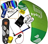 HQ HQ4 Hydra 350 Kiteboarding CX Trainer Kite Bundle : (5 Items) Includes 2ND Control Bar Kite : CX 1.5M Foil Control Bar Trainer Kite + WindBone Kiteboarding Lifestyle Decals +Key Chain +Koozy Cooler