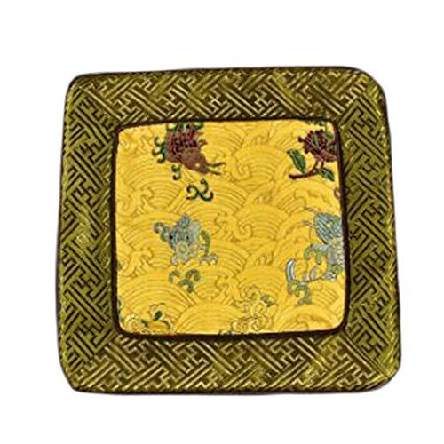 Goddness Bar Tapis de thé de Tapis de Dessous de Plat de Broderie de damassé Accessoires de thé de Chemin de Table (Style 10)