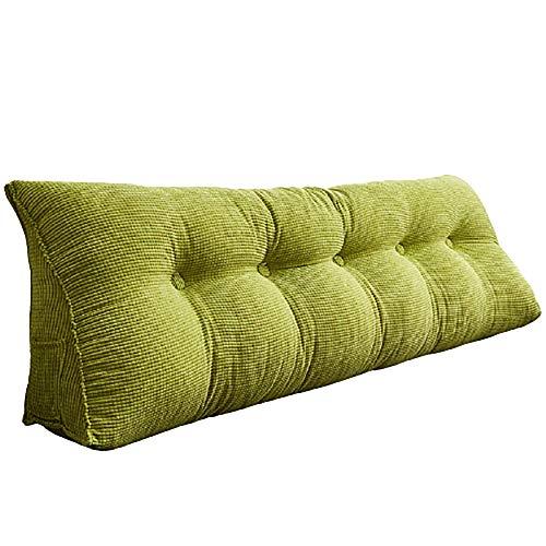 Almohada triangular, cojín de cama, cojín triangular cabezal de cama, almohada grande respaldo de la cama respaldo suave paquete de respaldo de la cama bolsa suave 200*25*50cm fruit green