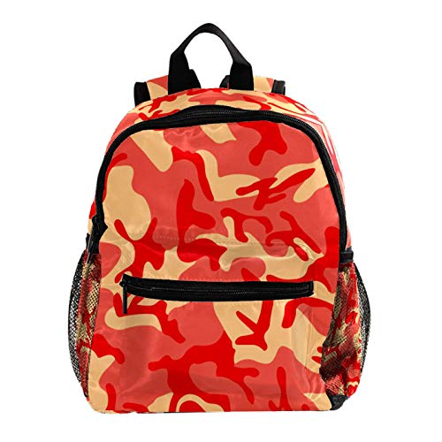 Campus Backpack Camo Pink Military Casual Backpack Lightweight Waterproof Student Bag Design Messenger Knapsack for Boys and Girls 10x4x12in
