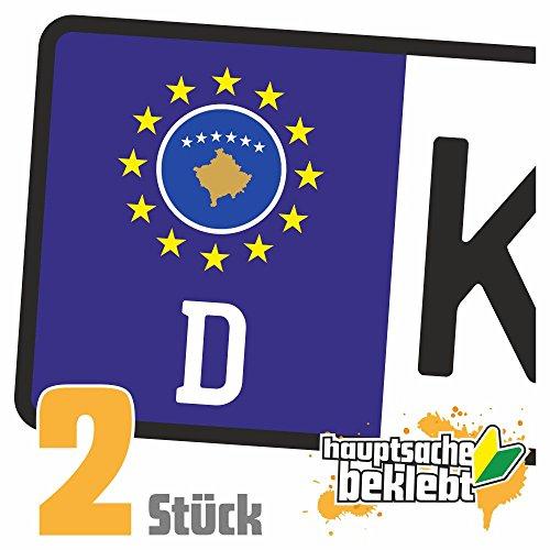 Kosovo Kennzeichen Aufkleber Sticker Nummernschild Land Country Nation