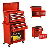8-Drawer Tool Chest Rolling Tool Storage Cabinet with Wheels,Removable High Capacity Tool Box with...