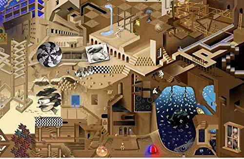 LDTSWES® Rompecabezas Abstractos, Escher Surrealista Arte Geométrico Adultos Cuadro Rompecabezas Madera, Estudiante Secundaria Relax Mood Jigsaws Juguetes 1000 Piezas
