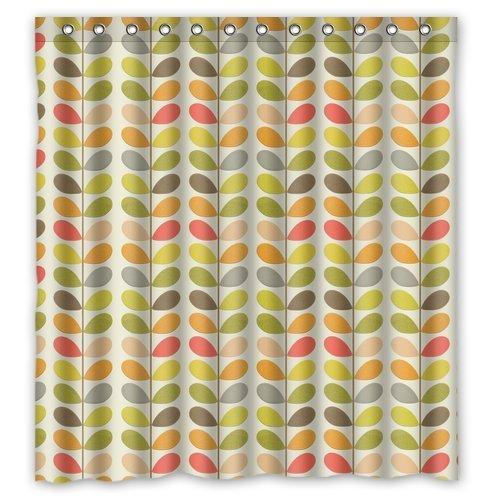 Colorful Orla Blätter Kiely Individuelle Wasserdicht Duschvorhang Badezimmer Vorhänge Bad Vorhang 152,4x 182,9cm