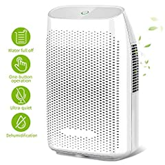 High Efficient: This home dehumidifier with 2000ml capacity can quickly and effectively removes up to 750ml (86℉, 80%RH) of moisture from the air per day in small spaces (100-269 sq.ft). Keep your house more comfortable and healthy Ultra Quiet: This ...
