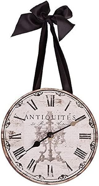 DCI 法国主题古物挂钟带丝带 8