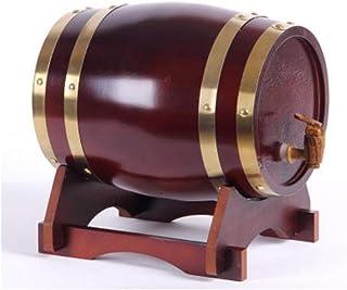 Tonneau de vin, Distributeur 3L en fût de chêne, Tonneau à vin en bois de chêne millésimé pour entreposage de fûts de bièr...