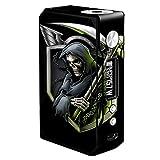 Skin Decal Vinyl Wrap for Voopoo Drag 157W TC Resin/Reg. Vape Mod stickers skins cover/ Black ops grim reaper