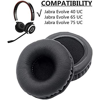 Amazon Com 1 Pair Of Ear Pads Cushion Cover Earpads Earmuff Replacement For Jabra Evolve 20 30 40 65 75 Headset Home Audio Theater