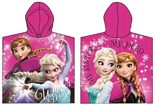 Frozen Poncho Bademantel Handtuch Die Eiskönigin ELSA und Anna Badetuch Strandtuch Beach Towel