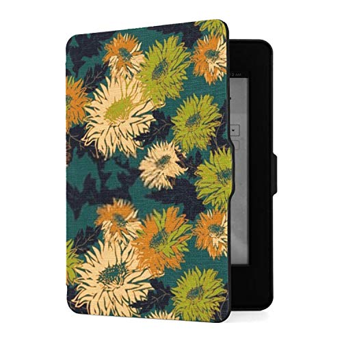 Kindle Paperwhite 1 2 3 Hülle, Trendige Farben Farbige Silhouetten Pu Ledertasche...