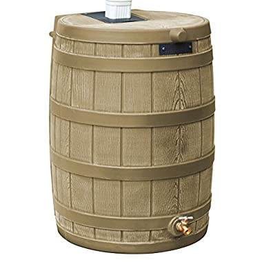 Good Ideas RW40-KHA Rain Wizard Rain Barrel 40-Gallon, Khaki