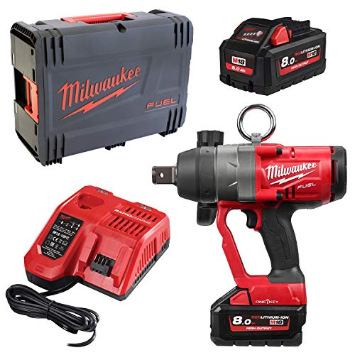 Milwaukee M18 ONEFHIWF1-802X One-Key 18V Li-Ion accu slagmoersleutel set (2x 8.0Ah accu) in HD-Box - 2033Nm - koolborstelloos