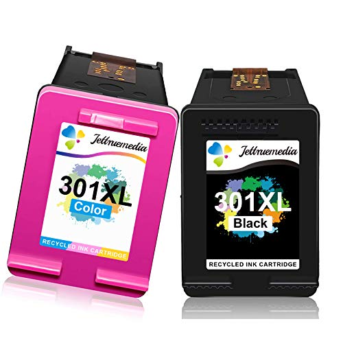 Cartucho de tinta 301XL para HP 301 XL compatible con HP Deskjet 1000 1010 1050 3000 2540 2050 2050A 3050 3055 officejet 2620 4630 4632 Envy 4502 5530 Cartuchos de tinta (1 negro, 1 color).