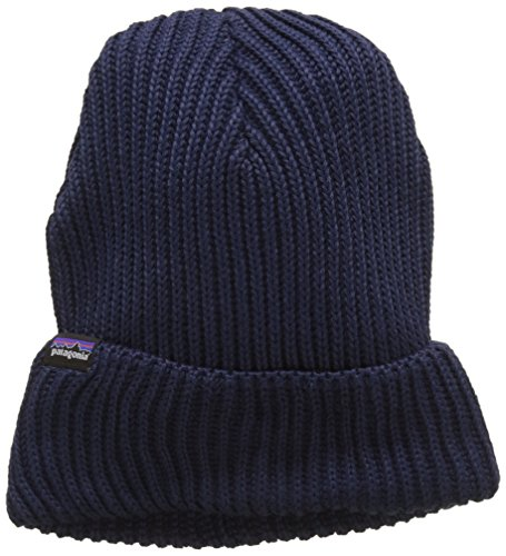 Patagonia Fishermans Rolled Beanie, Navy Blue, One Size