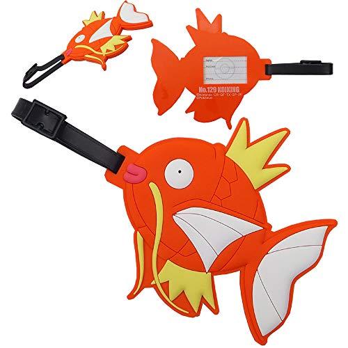 ポケモン ラバーラゲッジタグ PK25510-16(16/コイキング) おなまえホルダー Pokemon Rubber Collection ラバー コレクション 名前 目印 任天堂 GAME ゲーム キャラクター チャーム 雑貨 ギフト プレゼント ba