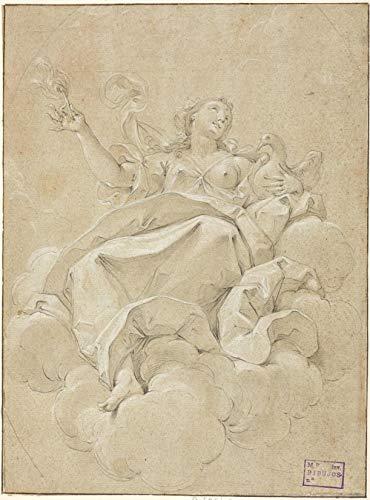 Malen als Maler Diy Ölgemälde Malen nach Zahlen Kits Digitales Malen für erwachsene Kinder 16X20 Zoll Bigari Vittorio Maria Allegorische weibliche Figur