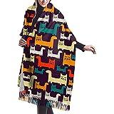 Photo de Elaine-Shop Funny Cat Pattern Femmes Casual Cashmere Shawl Wraps Winter Large Scarf