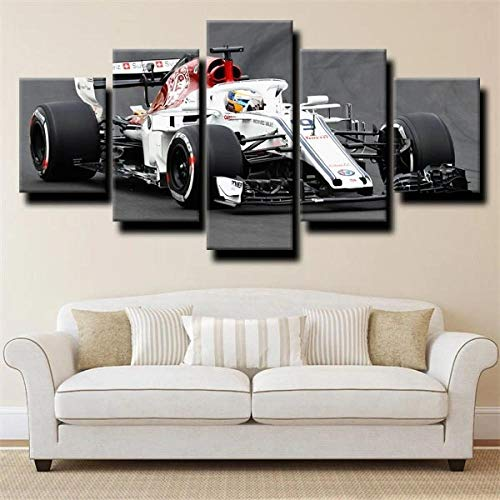 GSDFSD Canvas Picture-5 Piece- Formula 1 C37 Racing car -150x80cm-5 Part Panels-Ready to Hang-wall art print-Completely framed-Image printed-art on canvas-Christmas Ornaments
