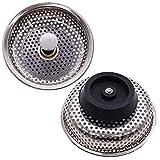 JPYH 2 Piezas Tapón Fregadero Filtr de Cocina, Tapón de Fregadero de Acero Inoxidable, Adecuado Para Tocador de Baño, Fregadero de Cocina, Diámetro 85mm