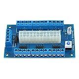Fdit Placa de alimentación ATX de 24/20 Pines, Adaptador de módulo de Placa de ruptura Superior de Banco de Fuente de alimentación de PC, Conectores de 3,3 V 5 V 12 V 16A