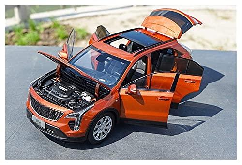 Modelos de Autos, 1/18 para Cadillac para XT4 SUV Diecast Metal Modelo Coche Modelo Modelo Modelo Boys Gifts Blanco Naranja Original Caja para Niños Boys Girls Regalo, YLLLLY-6686 (Color : Orange)