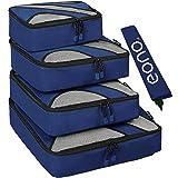 Eono by Amazon - 5 Set Cubos de Embalaje, 4 Tamaños Diferentes Equipaje de Viaje Organizadores de Embalaje y 1 Bolsa de Lavandería, Navy