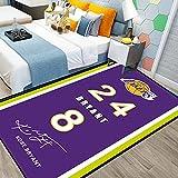 NO.24 NO.8 Bryant Alfombras, Lakers Baloncesto Impreso Área Alfombras Dormitorio Poliéster Antideslizante Casa Lakers Decoración Sofá Suelo Mat Bryant1-50 * 80