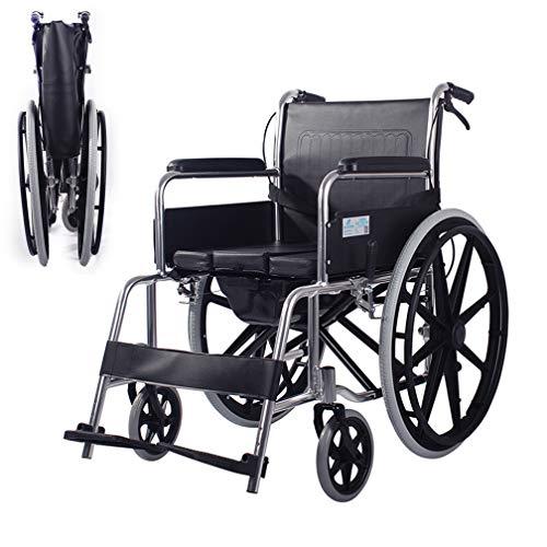 DIMOCHEN Silla de Ruedas de Aluminio Plegable,autopropulsable,Marco liviano y Plegable, para usuarios Mayores,discapacitados y discapacitados, Silla de Viaje de tránsito portátil