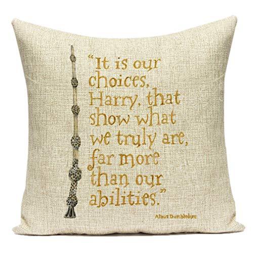 Nunubee Brief Dekorative Kissenbezug Für Sofa, Büro, Schlafzimmer Und Zuhause