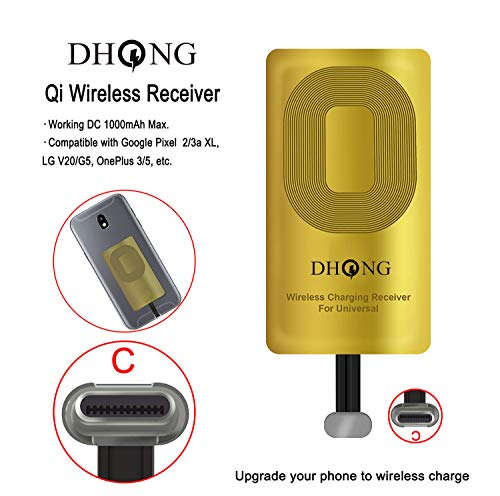 Silver DHong Smart in-Car Mobile Phone Holder IR Sensor Automatic Clamp 10W Qi Wireless Fast Charging Car Charger Plus 36W QC3.0 PD Type-C Dual Charger for iPhone Galaxy Huawei