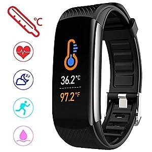 PYBBO Monitor de fitness con temperatura corporal y presión arterial, oxígeno y frecuencia cardíaca, monitor de sueño… 8