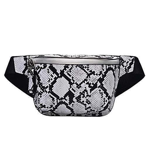 YEBIRAL Umhängetasche Damen, Bauchbeutel Brusttasche Hüfttasche Gürteltasche Schlangen-Muster Taschen Neu Kleine Schultertasche