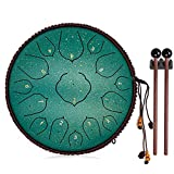 Tongue Drum, Upgraded Panda Drum 15 Notes 14 Inch, Professional Steel Drum C-Key, Mothers Day Gifts...