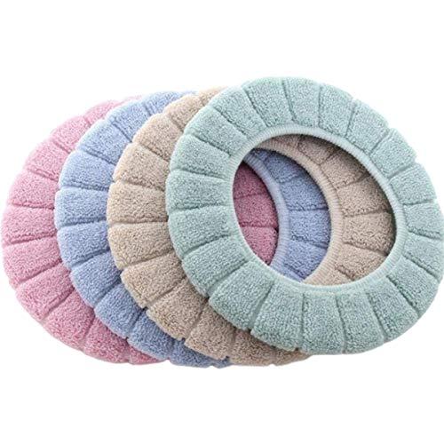 Cojín de Asiento Inodoro,Guador 4 Piezas Asiento del Inodoro Warmer Cushion Cojín de Asiento de Inodoro Lavable Lavable Universal Almohadillas Cubierta(Cuatro Colores)